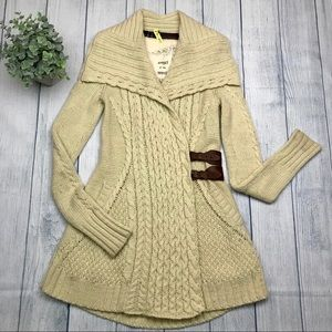 Anthropologie Blanched & Buckled Cardigan